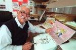 Peanuts animator Bill Melendez is seen here in his Sherman Oaks studio in Los Angeles. (AP Photo/Nick Ut)